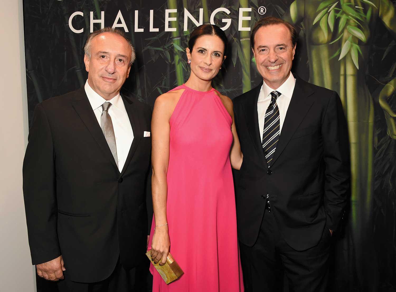 Da sinistra: Claudio Bonaveri, Livia Giuggioli Firth e Andrea Bonaveri